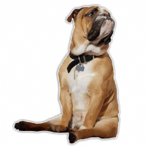 Bulldog Sticker - Classic Sitting Pose